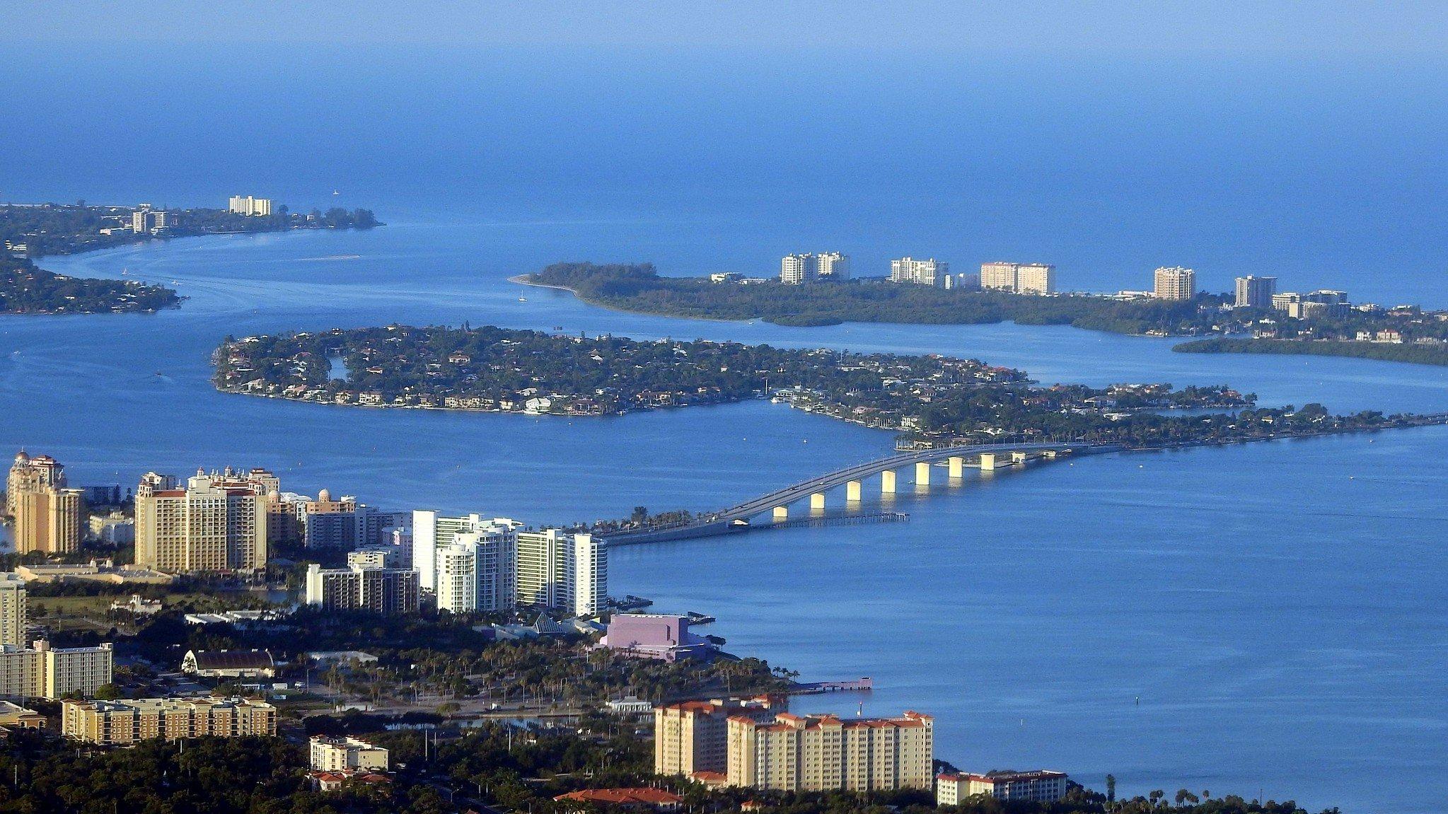 Downtown Sarasota ariel