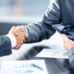 business sale agreement handshake